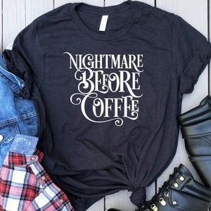 Nightmare Before Coffee graphic t-shirt black tee